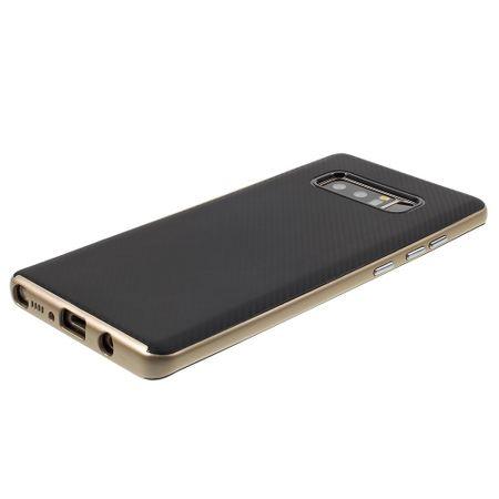 Hybrid Silikon Handy Hülle für Samsung Galaxy Grand Prime+ Case Cover Tasche Gold – Bild 2