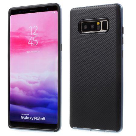 Hybrid Silikon Handy Hülle für Samsung Galaxy Grand Prime+ Case Cover Tasche Blau
