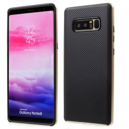 Hybrid Silikon Handy Hülle für Samsung Galaxy A7 2017 Case Cover Tasche Gold