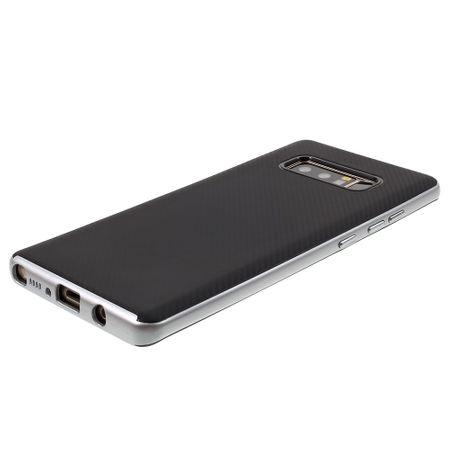 Hybrid Silikon Handy Hülle für Motorola Moto G5 plus Case Cover Tasche Silber – Bild 2