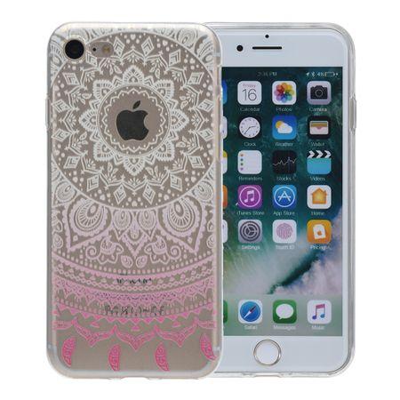 Henna Cover für Apple iPhone 5 / 5s / SE Case Schutz Hülle Silikon Sonne Weiß