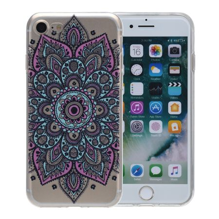 Henna Cover für Apple iPhone 5 / 5s / SE Case Schutz Hülle Silikon Tattoo Bunt