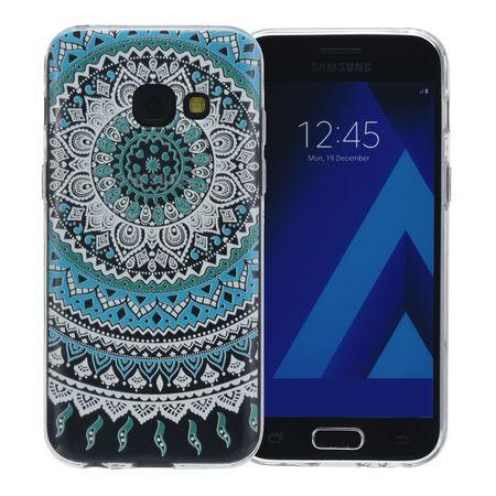Henna Cover für Samsung Galaxy S8 Case Schutz Hülle Silikon Sonne Blau