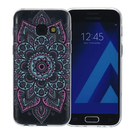 Henna Cover für Samsung Galaxy A3 2017 Case Schutz Hülle Silikon Tattoo Bunt