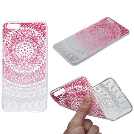 Henna Cover für Xiaomi Redmi Note 4 Case Schutz Hülle Silikon Sonne Pink