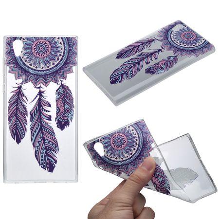 Henna Cover für Sony Xperia XA1 Case Schutz Hülle Silikon Traumfänger