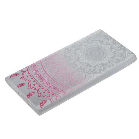 Henna Cover für Sony Xperia XA1 Ultra Case Schutz Hülle Silikon Sonne Weiß – Bild 4
