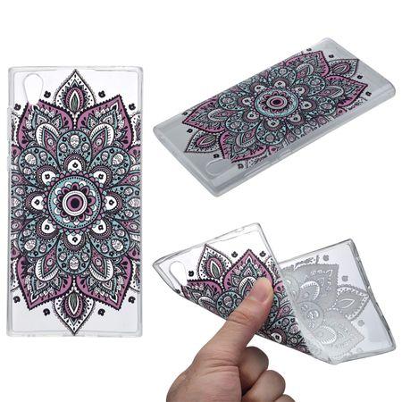 Henna Cover für Sony Xperia XA1 Ultra Case Schutz Hülle Silikon Tattoo Bunt