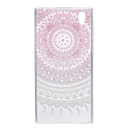 Henna Cover für Sony Xperia XZ Premium Case Schutz Hülle Silikon Sonne Pink – Bild 3