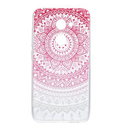 Henna Cover für Alcatel A5 LED Case Schutz Hülle Silikon Sonne Pink – Bild 2