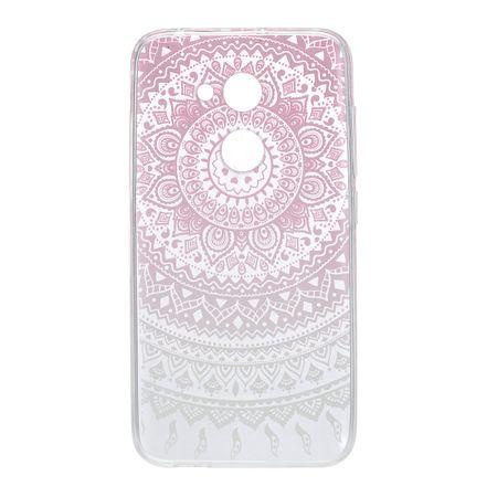 Henna Cover für Alcatel A5 LED Case Schutz Hülle Silikon Sonne Pink – Bild 3