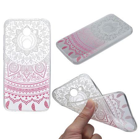 Henna Cover für Alcatel A5 LED Case Schutz Hülle Silikon Sonne Weiß