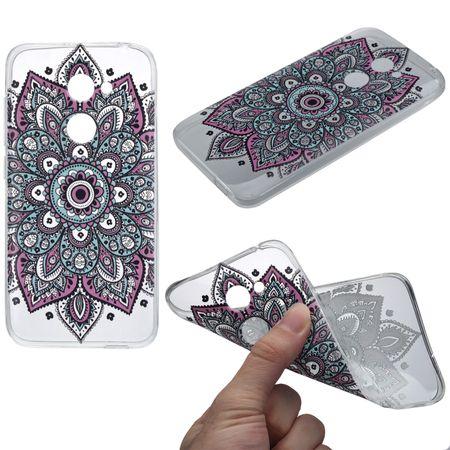 Henna Cover für Alcatel A5 LED Case Schutz Hülle Silikon Tattoo Bunt – Bild 1