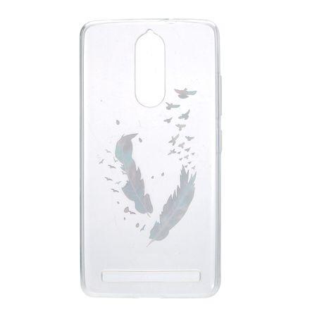 Henna Cover für Lenovo Vibe K5 Case Schutz Hülle Silikon Federn Bunt – Bild 3