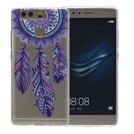 Henna Cover für Huawei P9 Case Schutz Hülle Silikon Traumfänger