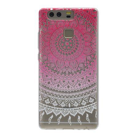 Henna Cover für Huawei Enjoy 6 Case Schutz Hülle Silikon Sonne Pink – Bild 3