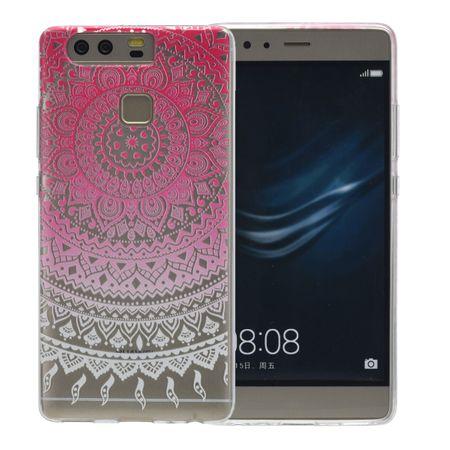 Henna Cover für Huawei Enjoy 6s Case Schutz Hülle Silikon Sonne Pink