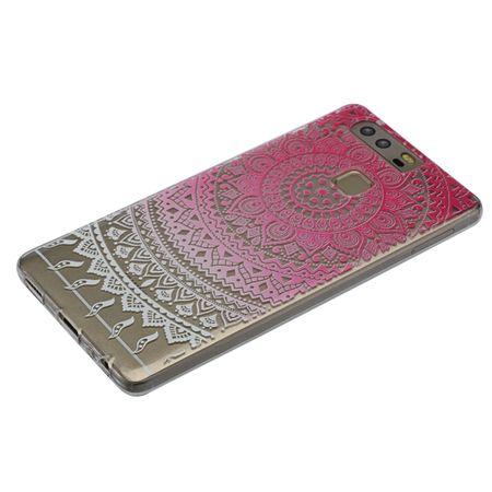 Henna Cover für Huawei Enjoy 6s Case Schutz Hülle Silikon Sonne Pink – Bild 4