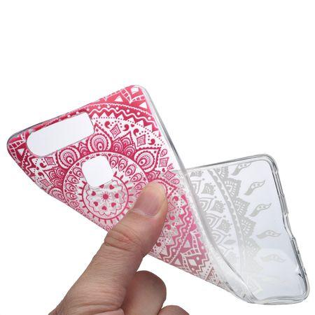 Henna Cover für Huawei P10 Plus Case Schutz Hülle Silikon Sonne Pink – Bild 5