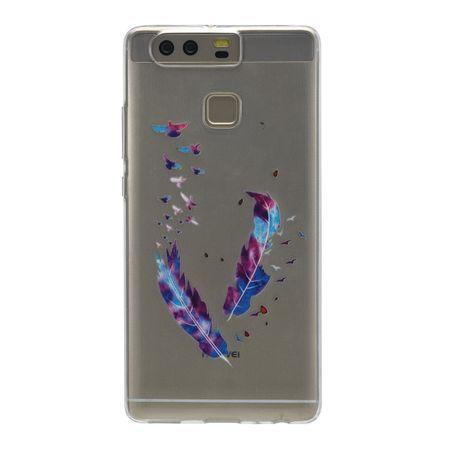 Henna Cover für Huawei P10 Plus Case Schutz Hülle Silikon Federn Bunt – Bild 3