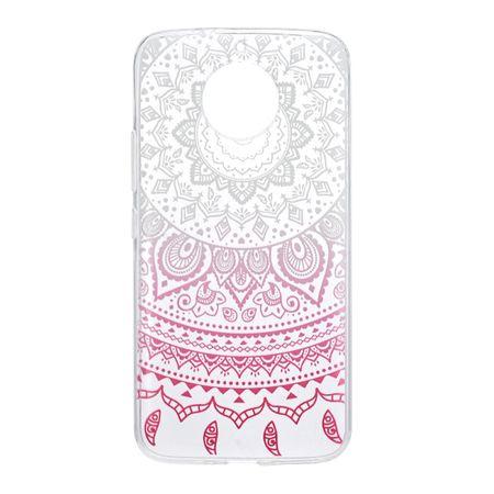Henna Cover für Motorola Moto G5 Case Schutz Hülle Silikon Sonne Weiß – Bild 2