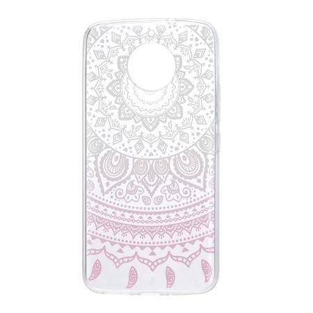 Henna Cover für Motorola Moto E4 Case Schutz Hülle Silikon Sonne Weiß – Bild 3
