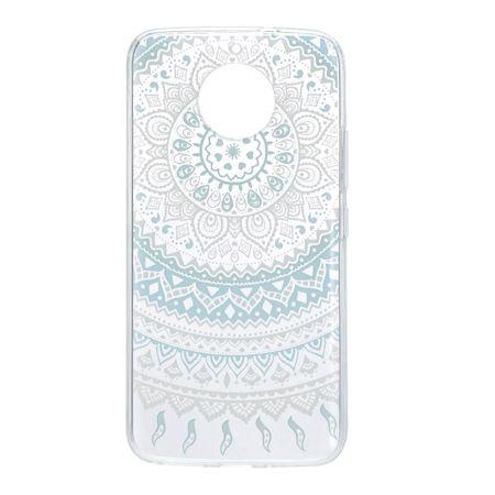 Henna Cover für Motorola Moto G6 Case Schutz Hülle Silikon Sonne Blau – Bild 3