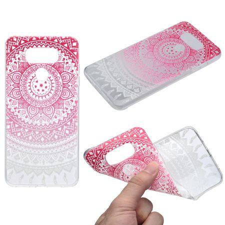 Henna Cover für LG G6 Case Schutz Hülle Silikon Sonne Pink