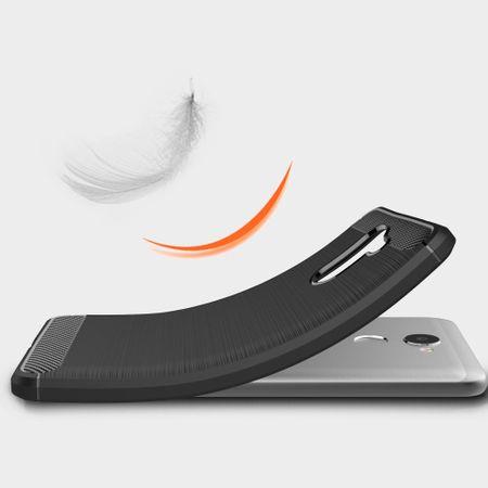 Huawei Y7 2017 TPU Case Carbon Fiber Optik Brushed Schutz Hülle Schwarz – Bild 6