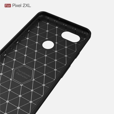 Google Pixel XL 2 TPU Case Carbon Fiber Optik Brushed Schutz Hülle Schwarz – Bild 4
