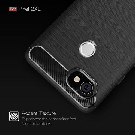 Google Pixel XL 2 TPU Case Carbon Fiber Optik Brushed Schutz Hülle Schwarz – Bild 6