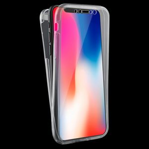 Crystal Case Hülle für Apple iPhone X Transparent Full Body