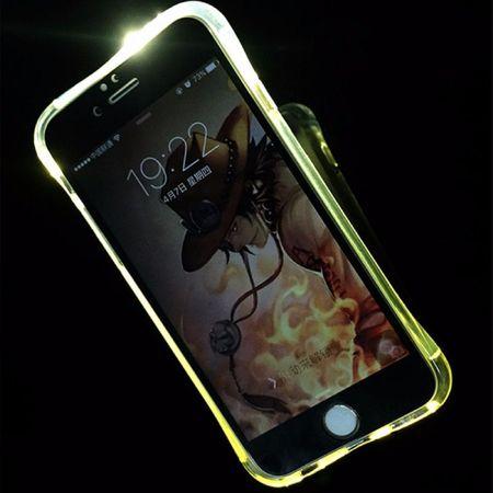 Handy Hülle LED Licht bei Anruf für Handy Apple iPhone X Transparent