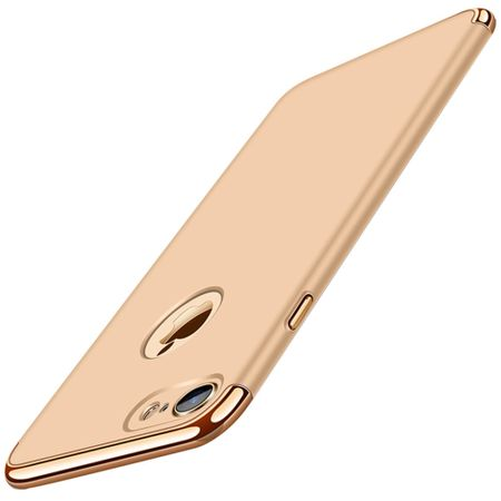 Handy Hülle Schutz Case für Apple iPhone 6s Plus Bumper 3 in 1 Cover Chrom Gold