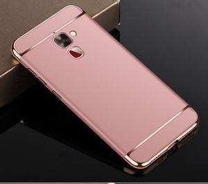 Handy Hülle Schutz Case für LeEco Le 2 Bumper 3 in 1 Cover Chrom Etui Rose Gold