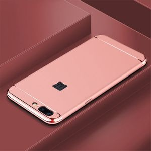 Handy Hülle Schutz Case für OnePlus 5 Bumper 3 in 1 Cover Chrom Etui Rose Gold