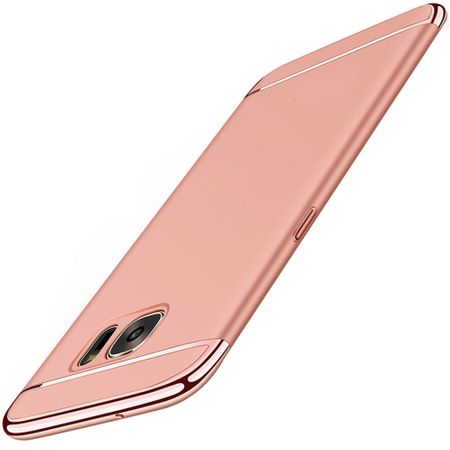 Handy Hülle Schutz Case für Samsung Galaxy A3 2016 Bumper 3 in 1 Cover Rose Gold