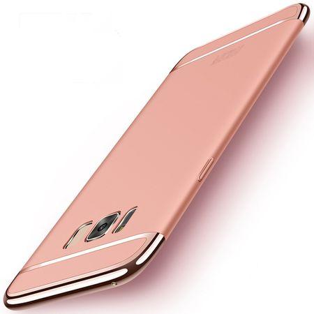 Handy Hülle Schutz Case für Samsung Galaxy S8 Bumper 3 in 1 Cover Rose Gold