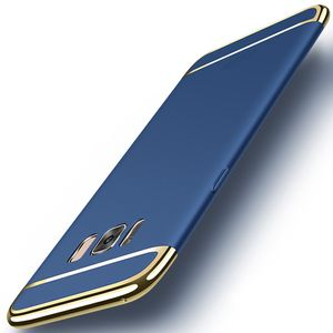 Handy Hülle Schutz Case für Samsung Galaxy S8+ Bumper 3 in 1 Cover Chrom Blau