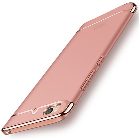 Handy Hülle Schutz Case für Xiaomi Mi 5s Bumper 3 in 1 Cover Chrom Rose Gold