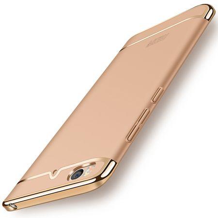 Handy Hülle Schutz Case für Xiaomi Mi 5s Bumper 3 in 1 Cover Chrom Etui Gold