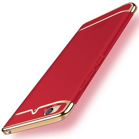 Handy Hülle Schutz Case für Xiaomi Mi 5s Bumper 3 in 1 Cover Chrom Etui Rot