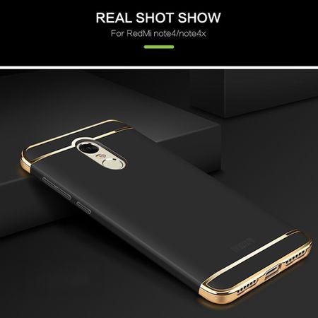 Handy Hülle Schutz Case für Xiaomi Redmi Note 4X Bumper 3 in 1 Cover Schwarz – Bild 3