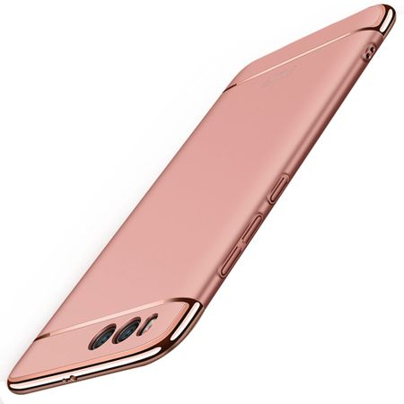 Handy Hülle Schutz Case für Xiaomi Mi 6 Bumper 3 in 1 Cover Chrom Etui Rose Gold