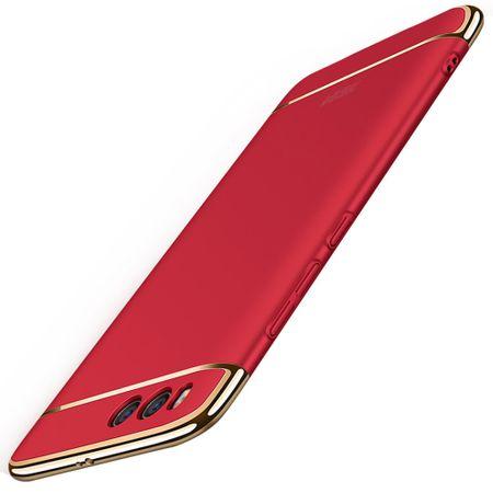 Handy Hülle Schutz Case für Xiaomi Mi 6 Bumper 3 in 1 Cover Chrom Etui Rot