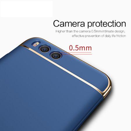 Handy Hülle Schutz Case für Xiaomi Mi 6 Bumper 3 in 1 Cover Chrom Etui Schwarz – Bild 3