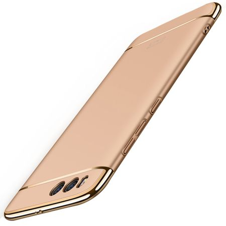 Handy Hülle Schutz Case für Xiaomi Mi 6 Plus Bumper 3 in 1 Cover Chrom Etui Gold