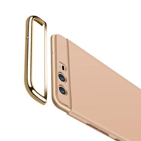 Handy Hülle Schutz Case für Huawei P9 Bumper 3 in 1 Cover Chrom Etui Silber – Bild 4