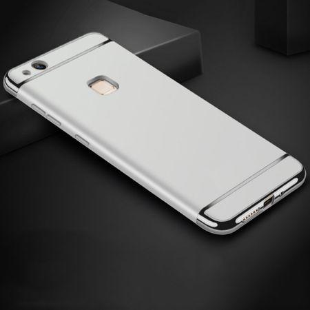 Handy Hülle Schutz Case für Huawei P9 Lite Bumper 3 in 1 Cover Chrom Etui Silber – Bild 1