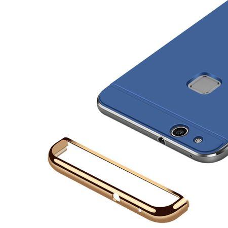 Handy Hülle Schutz Case für Huawei P9 Lite Bumper 3 in 1 Cover Chrom Etui Silber – Bild 3